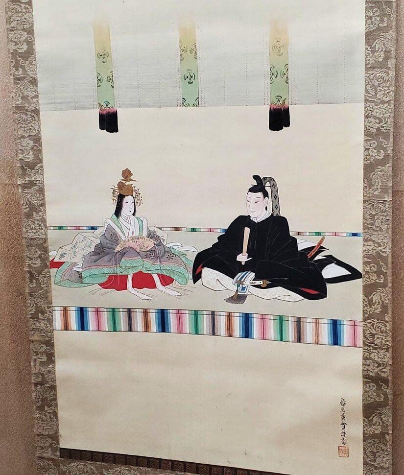 松山城天守閣内の展示されている絵1