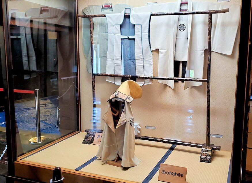 松山城大天守に飾られている羽織もの