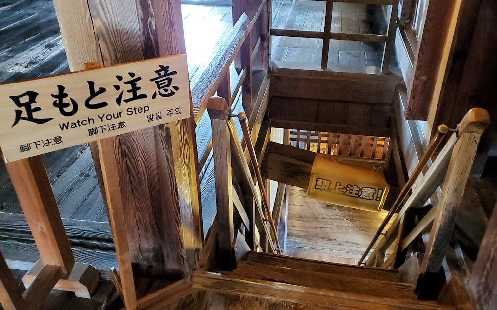 松山城天守から降りる階段