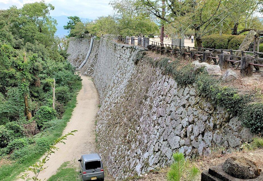 松山城本壇から見える石垣
