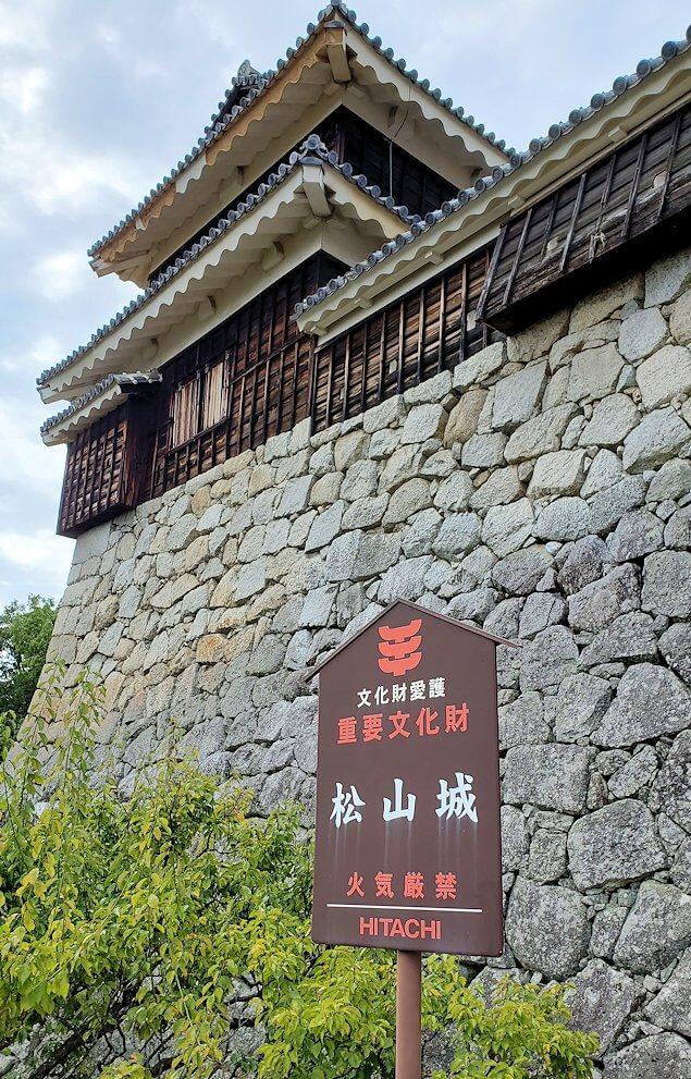 「乾門」から眺める松山城