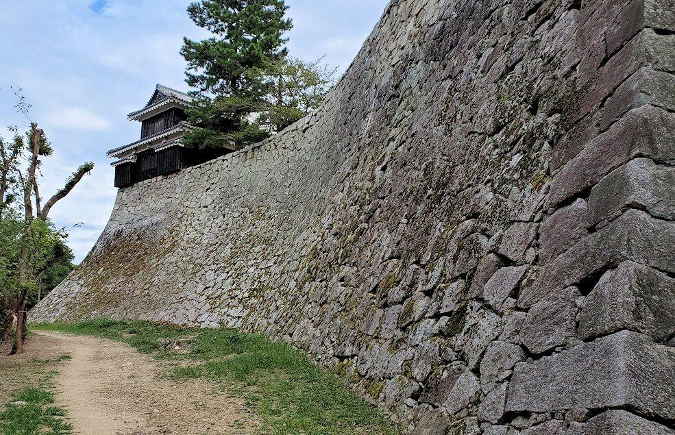松山城本壇脇を遠回り