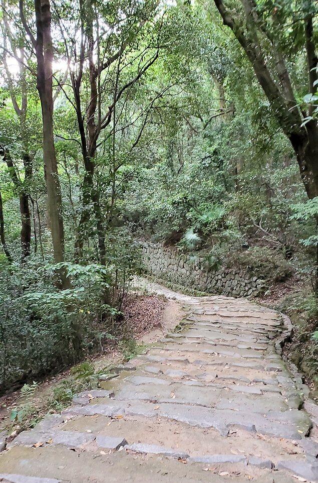 松山城「黒門口登城道ルート」を下る道1