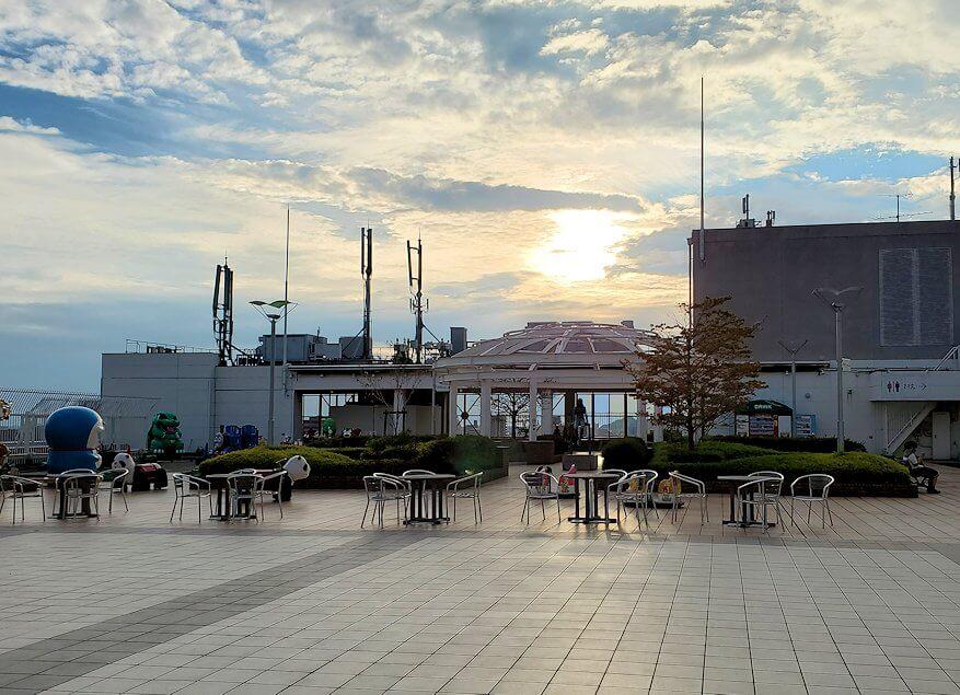 松山市の高島屋の屋上