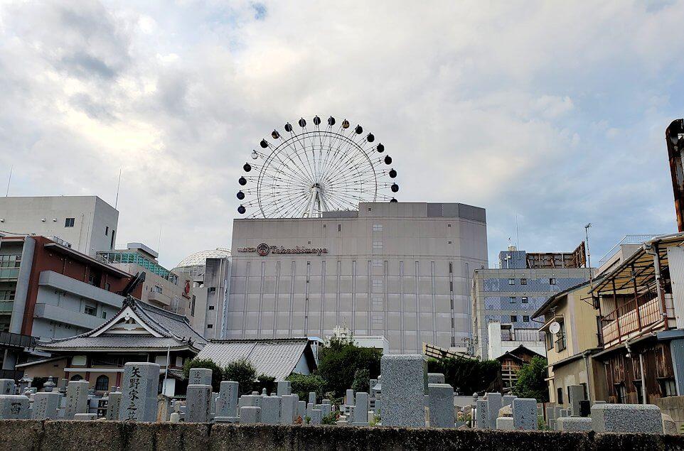 松山市内にある「子規堂」付近から見る観覧車