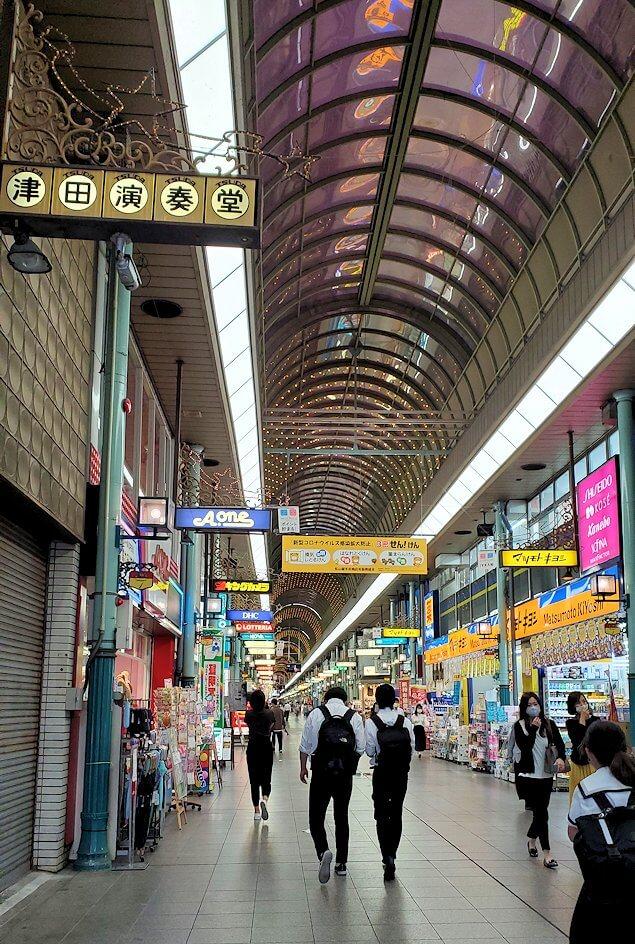 松山市内のアーケード通り