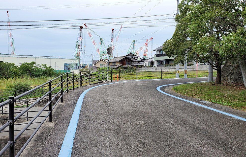 しまなみ海道で来島大橋の入口に入る2